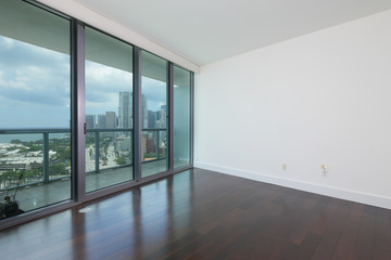 Unfurnished room with view