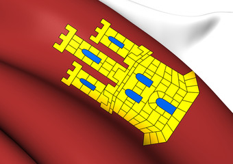 Flag of Castile-La Mancha, Spain.