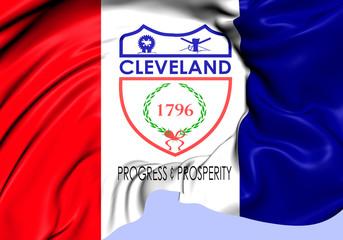 Flag of Cleveland, USA.
