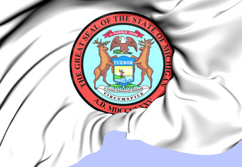 State Seal of Michigan, USA.