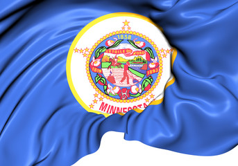 Flag of Minnesota, USA.
