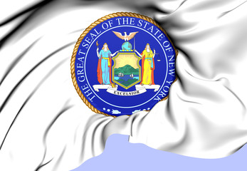 State Seal of New York, USA.