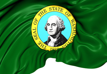 Flag of Washington State, USA.