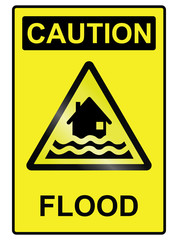 Flood hazard warning information sign