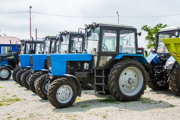 new agricultural tractors in the shop
