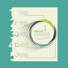 Flat business infographic elements, vector illustration