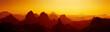 canvas print picture - Sunrise in Sahara Desert