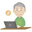 PC操作をする老人3