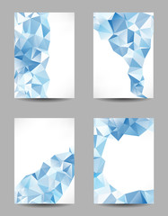 Backgrounds with abstract triangles