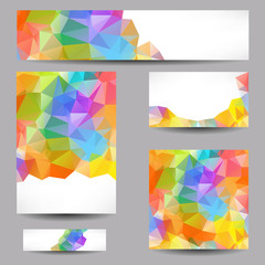 Templates with abstract geometrical triangles