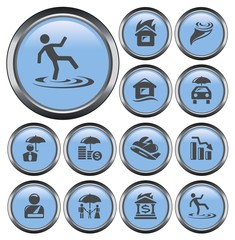 Insurance button set