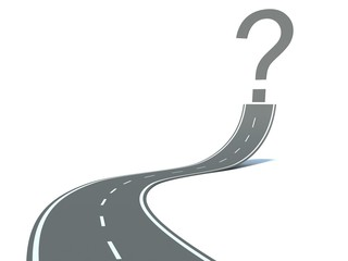 road and question mark