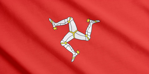 Flag of Isle of Man waving