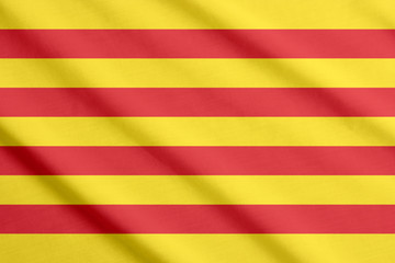 Flag of Catalonia waving