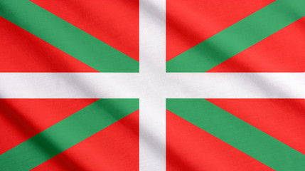 Flag of Basque waving