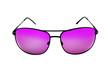 Generic Stylish male aviator sunglasses on white