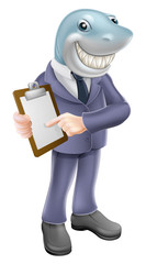 Businessman shark contract
