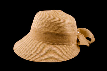 Generic retro female straw hat