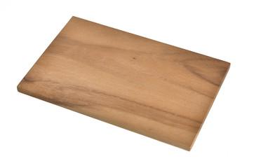 Kleines Frühstücksbrett aus Holz auf weiss