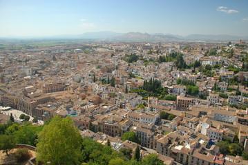 Panorama of Granada, Spain