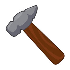 hammer isolated illustration