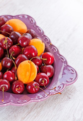 Plate of summer fruits