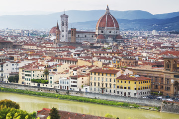 Cityscape panorama of Florence