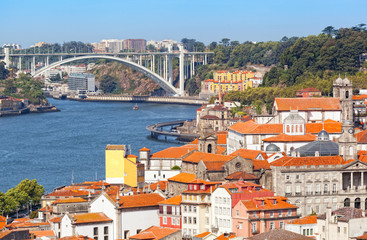 bridge through Duoro's river, Porto, Portugal