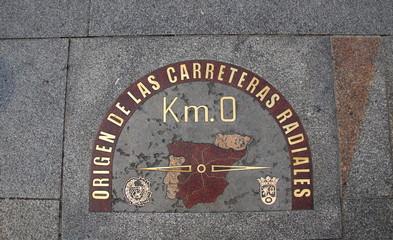 0 kilometer, origin of Spanish radial roads, Madrid
