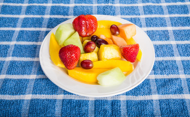 Mangos Strawberries and Cut Fruit
