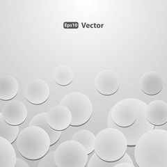 Abstract Background Vector - Circles with Drop Shadows