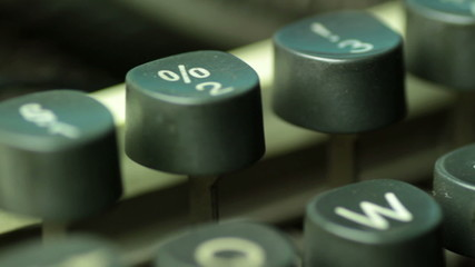 typewriter closeup
