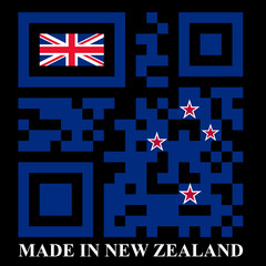 New Zealand QR code flag, vector