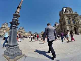 touristes à Paris
