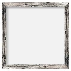 natural square size wooden photo frame