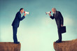 Leinwanddruck Bild - business conflict