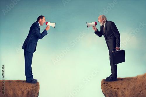 Leinwanddruck Bild business conflict
