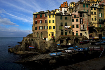 riomaggiore in the north of italy