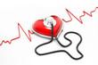 Obrazy na płótnie, fototapety, zdjęcia, fotoobrazy drukowane : heart and stethoscope