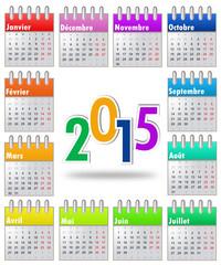 Calendrier 2015 Multicolore