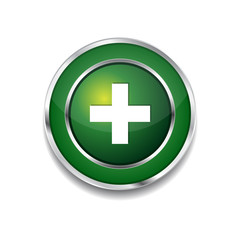 Plus Circular Vector Green Web Icon Button