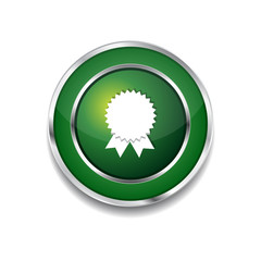 Medal Circular Vector Green Web Icon Button