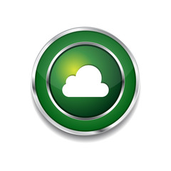 Cloud Circular Vector Green Web Icon Button