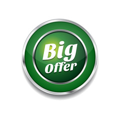 Big Offer Glossy Shiny Circular Vector Button