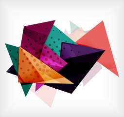Abstract 3d triangle blank background