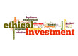 Ethical investment word cloud