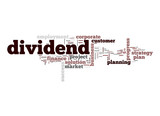 Dividend word cloud poster