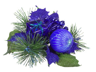 blue and green isolated christmas decoration