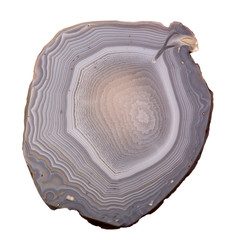 grey agate isolated on white