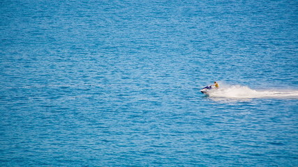 Man on a Jet Ski at sea. HD 1080.